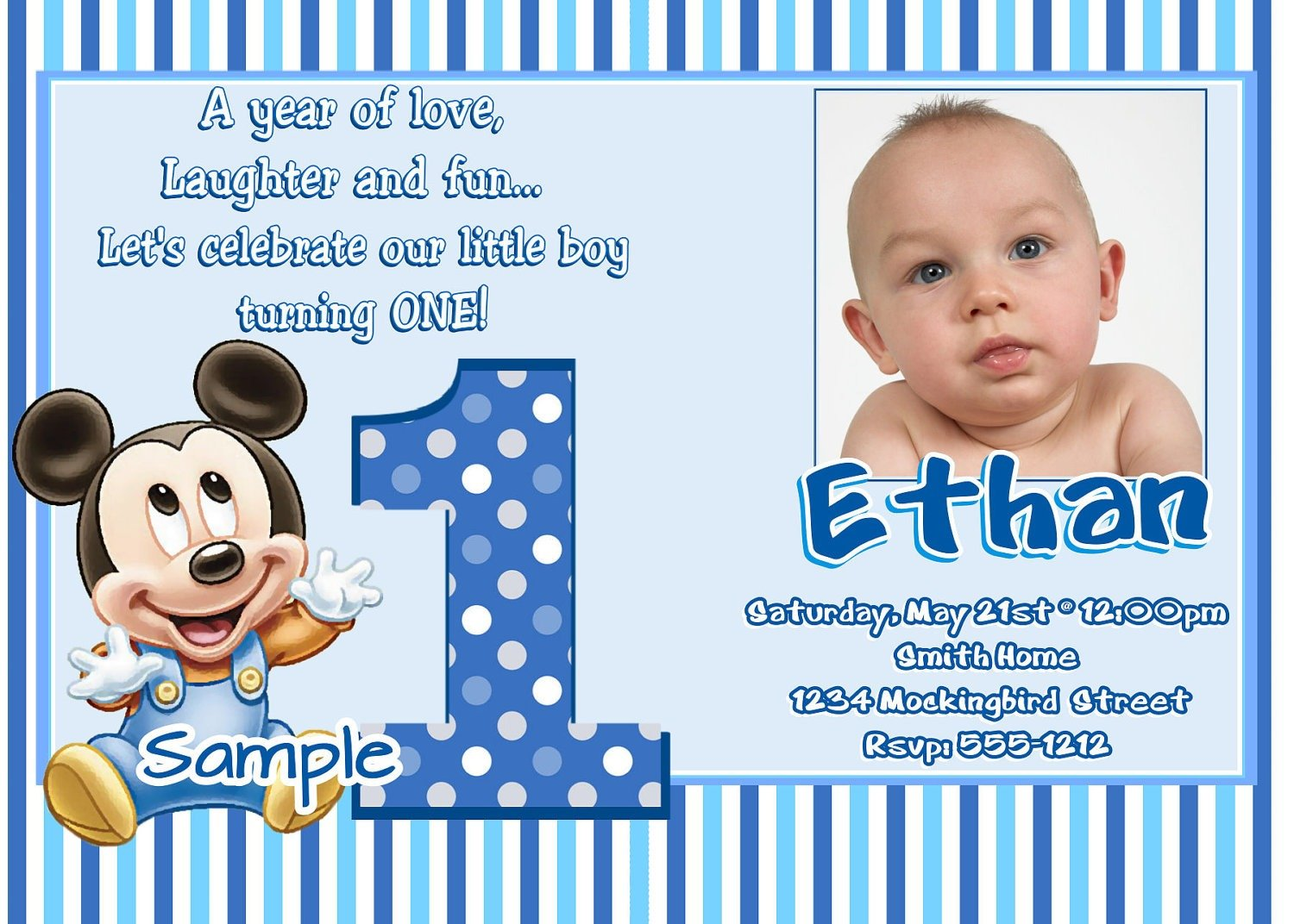 First Birthday Party Invitation Templates