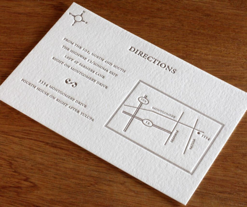 Wedding Reception Direction Cards Template