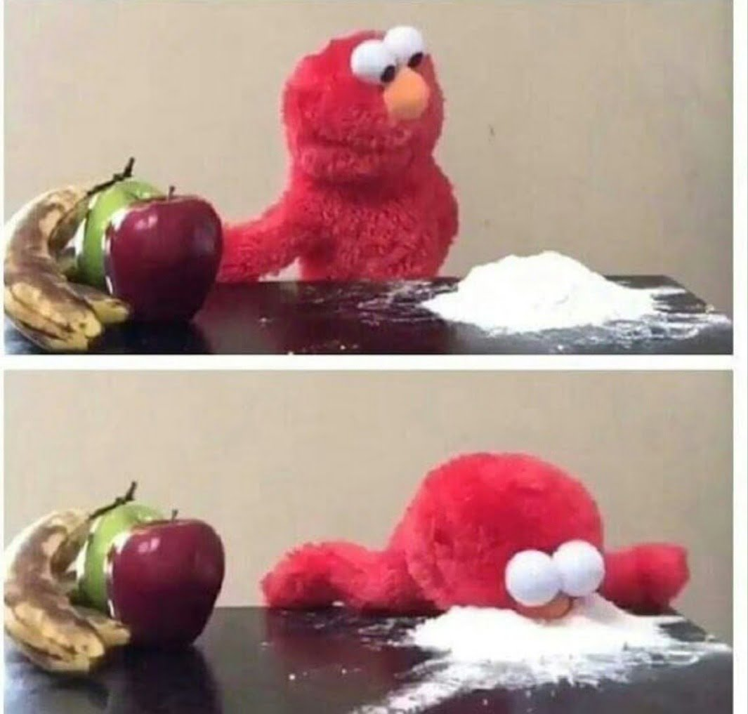 Elmo Cocaine Blank Template