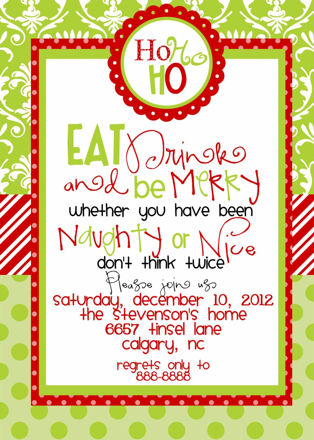 Christmas Party Invitations Templates Free Printables