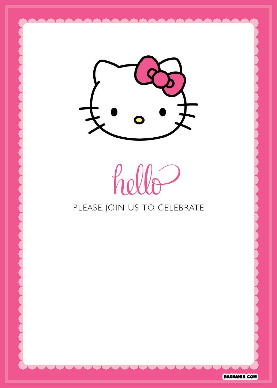 Free Printable Hello Kitty Birthday Invitations – Bagvania Free