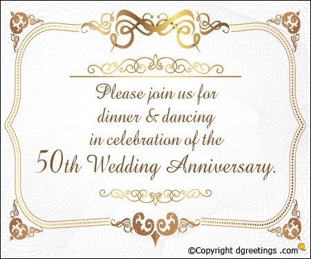 Imágenes De Wording For 50th Wedding Anniversary Invitations
