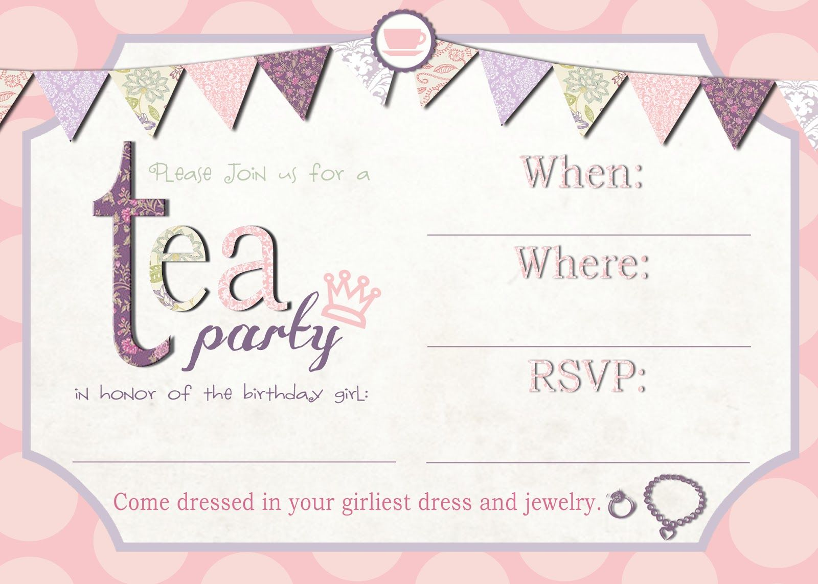Tea Party Invitation Template Download – Invitetown