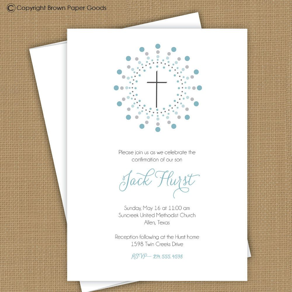 Confirmation Invitation Template