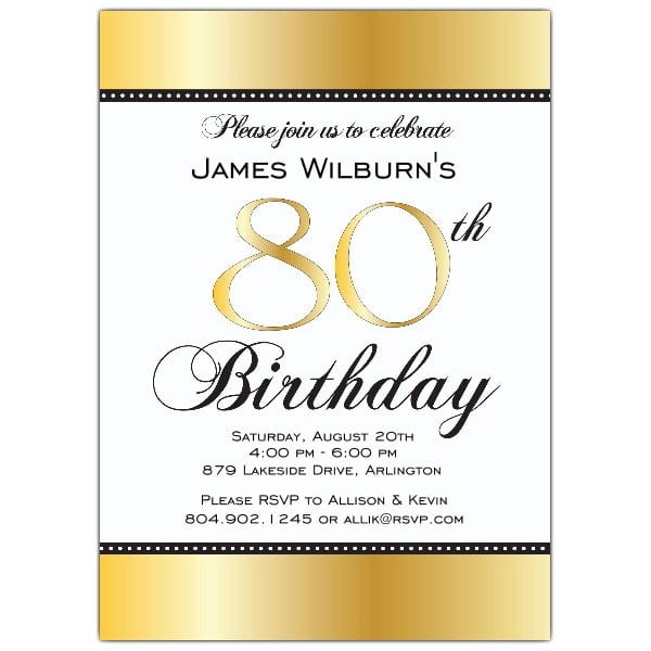 80th Birthday Invitation Templates Lovely With 80th Birthday