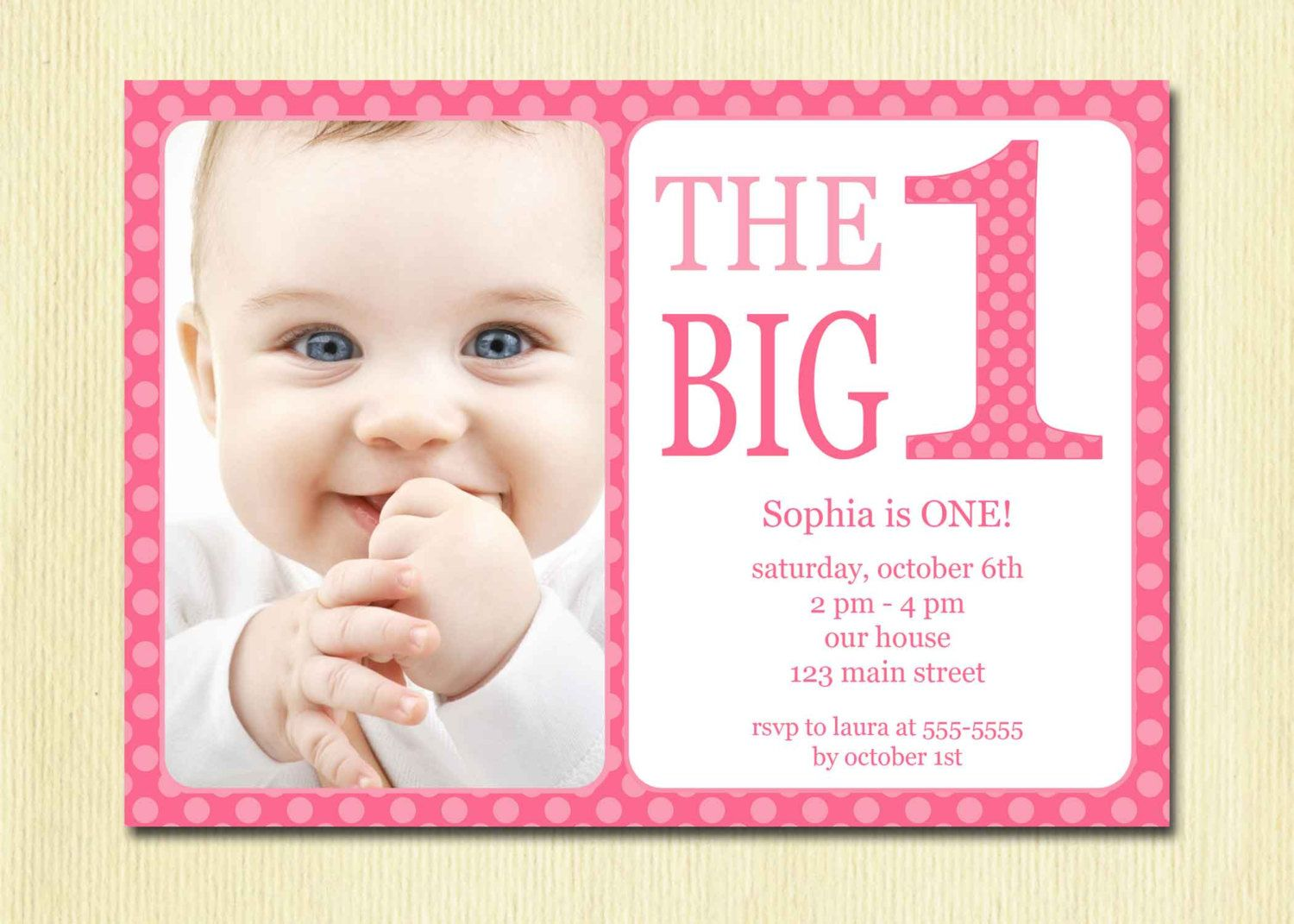 7 Best Images Of First Birthday Party Invitations Printable Free