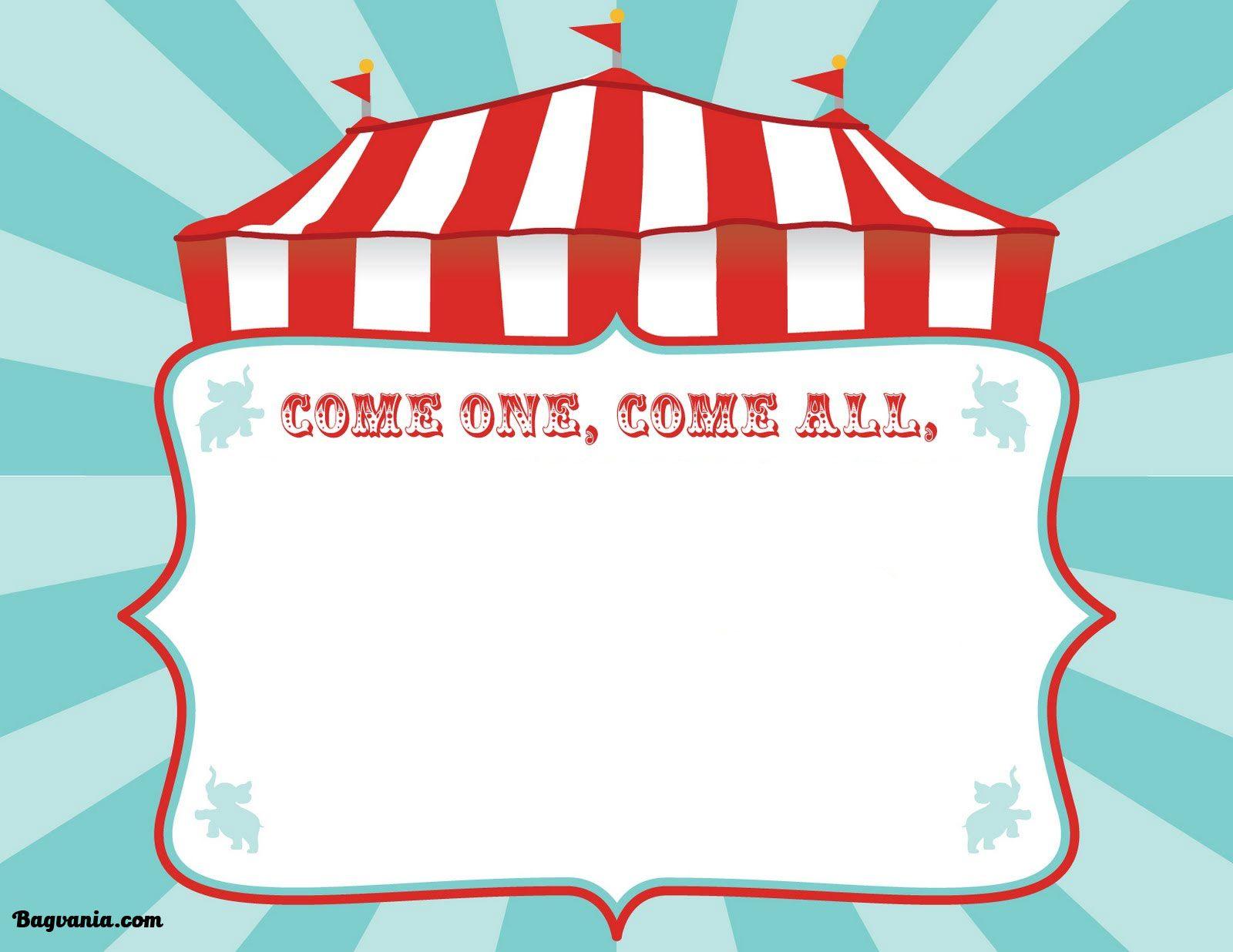 Accdafcddbee Trend Circus Birthday Invitation Template Free