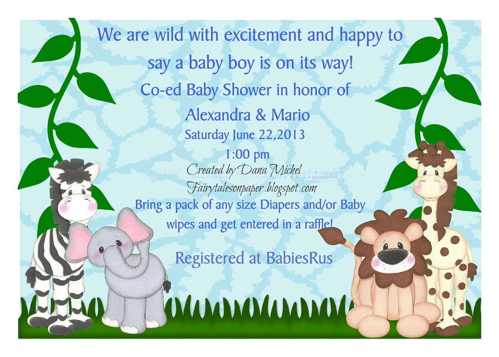 Fairy Tales On Paper  Baby Shower Invitation And Guest Book