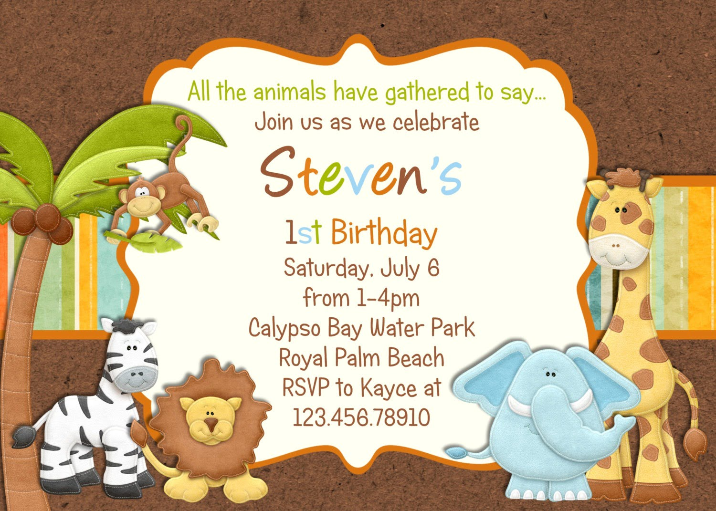 Amazing Zoo Birthday Invitations 36 In Invitations Templates Ideas