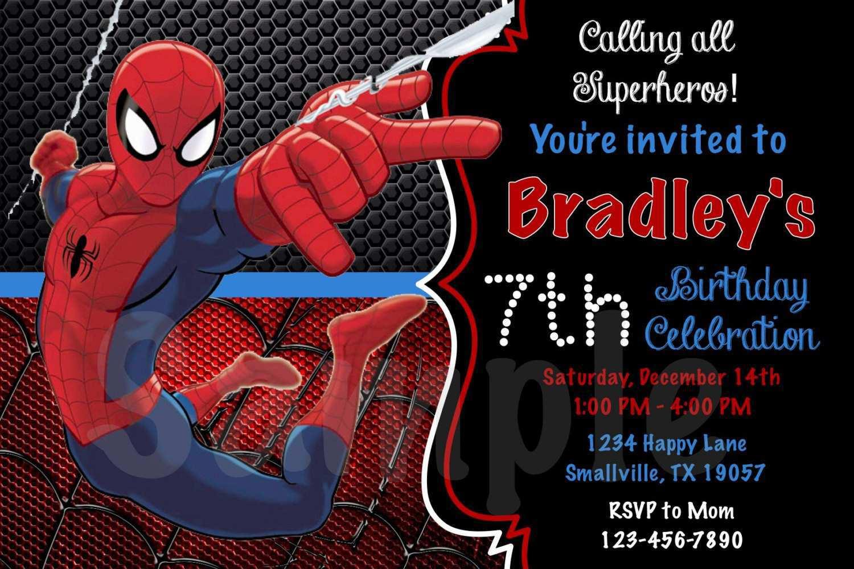 Amusing Spiderman Birthday Invitations Design Unique Free Editable