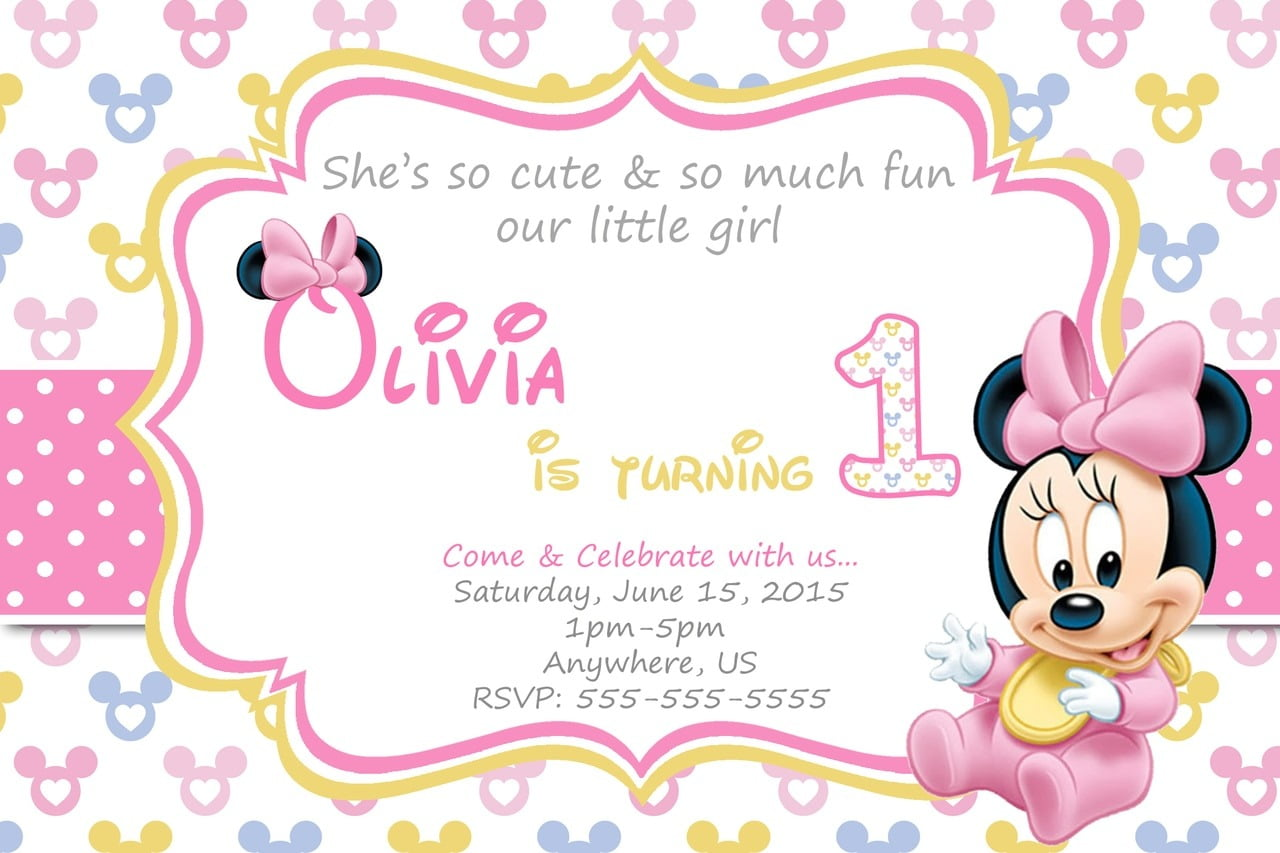 Images Of Baby Minnie Mou Cool Baby Minnie Mouse Birthday