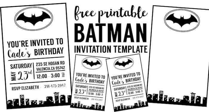 Batman Invitation Short Fancy Free Batman Invitation Template