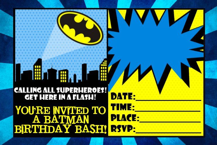 Batman Invitation Templates New Batman Party Invitation Template