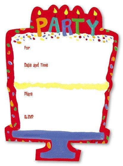 Blank Birthday Invitations Blank Birthday Invitations For Best