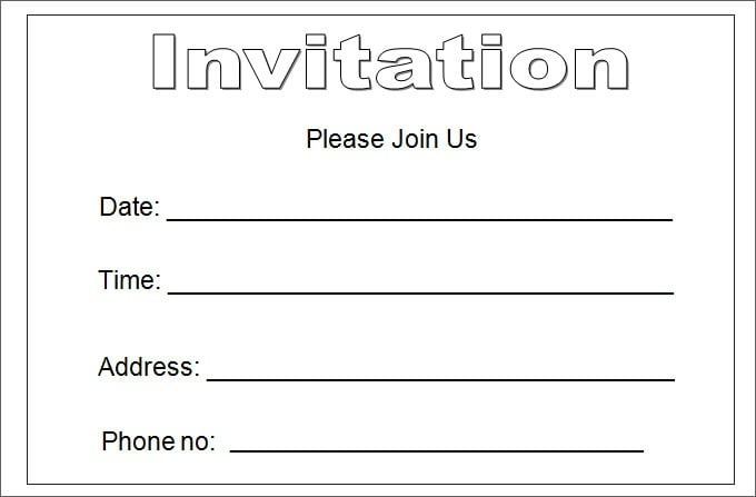 Blank Invitation Template Free Epic Blank Invitation Templates For
