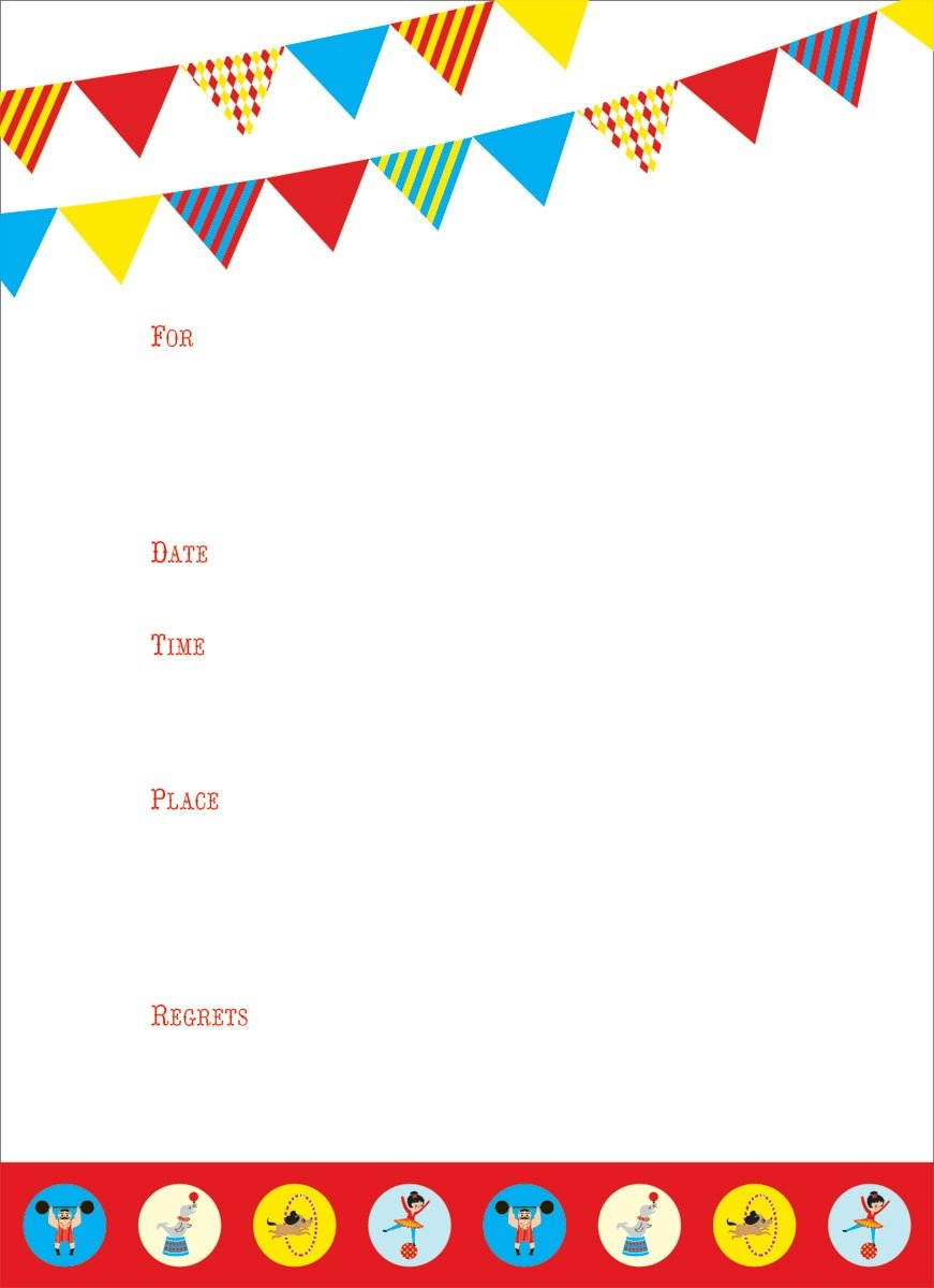 Blank Party Invitations Blank Party Invitations For Party