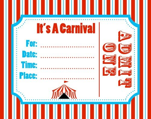 Carnival Theme Party Invitations Templates