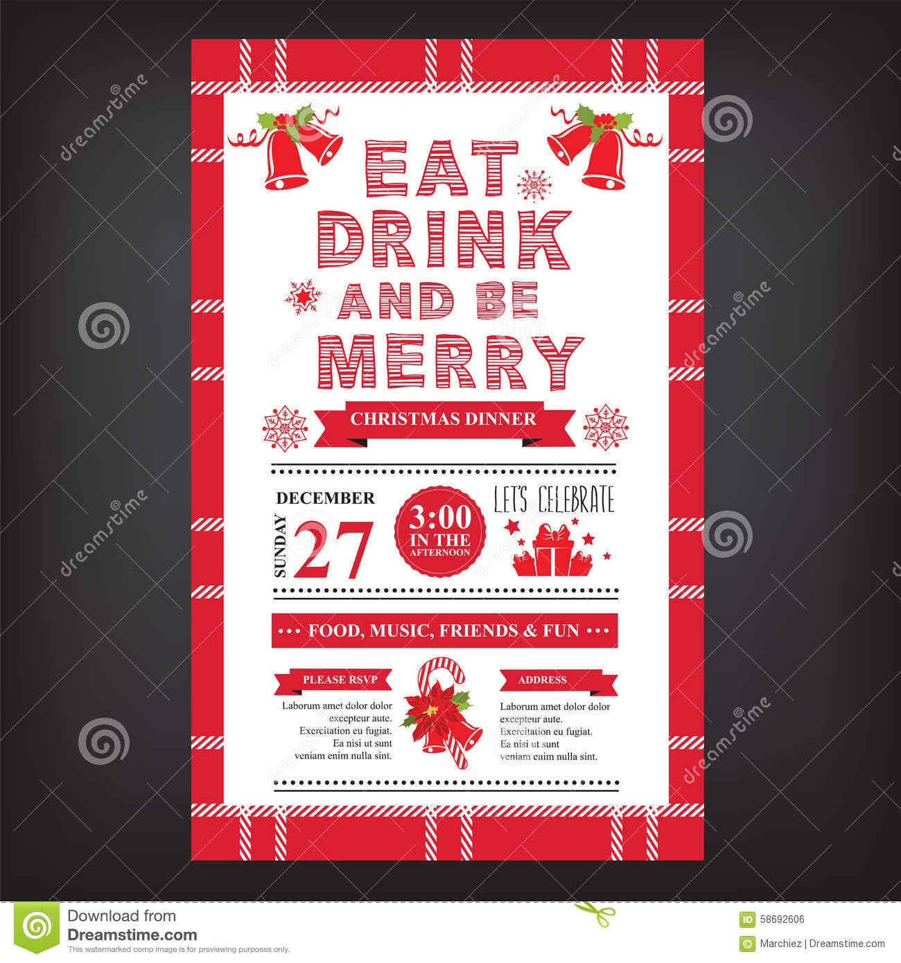 Free Christmas Invitation Templates Online Holiday Party