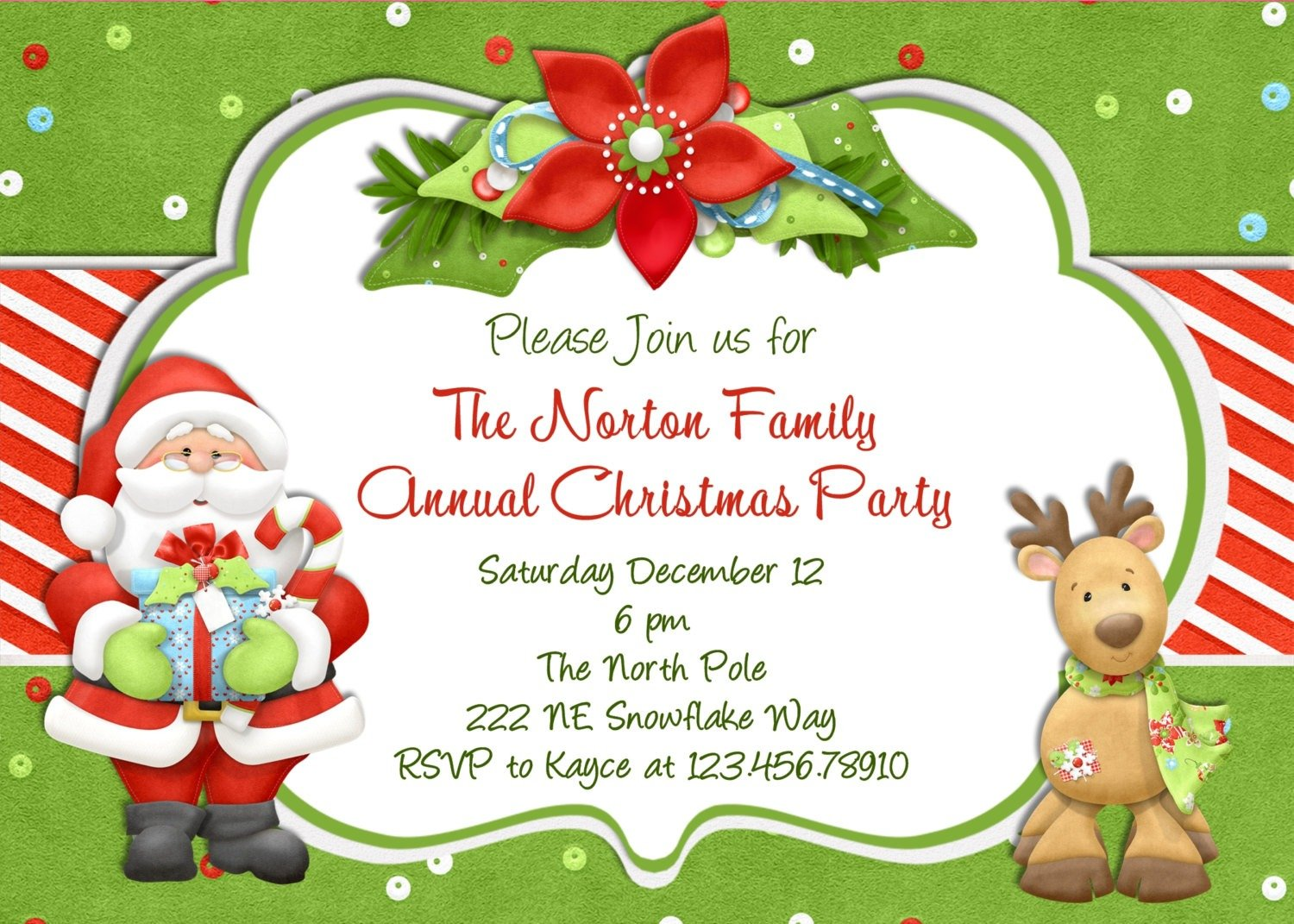 free youth christmas party templates