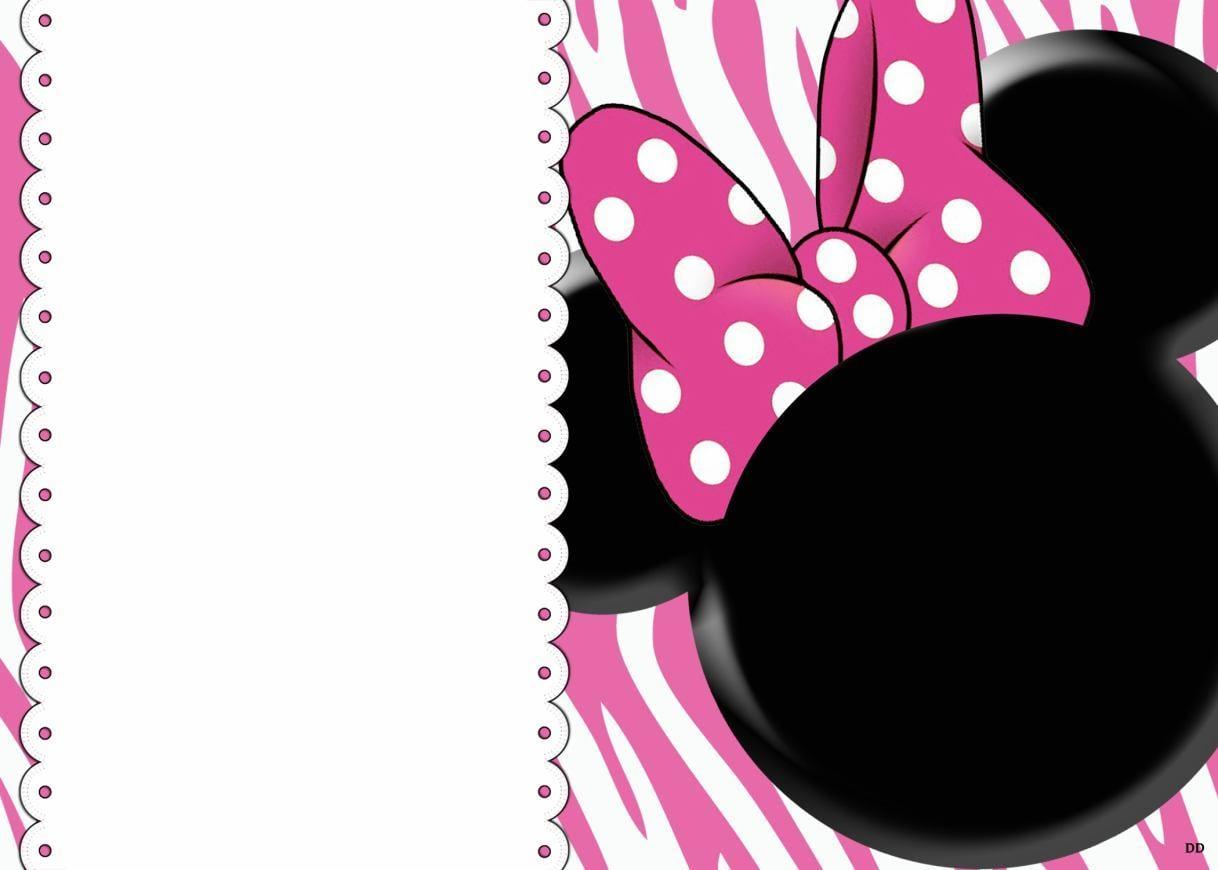 Minnie Mouse Blank Invitations