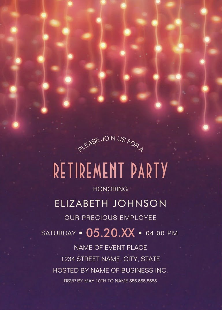 Retirement Invitation Template Archives