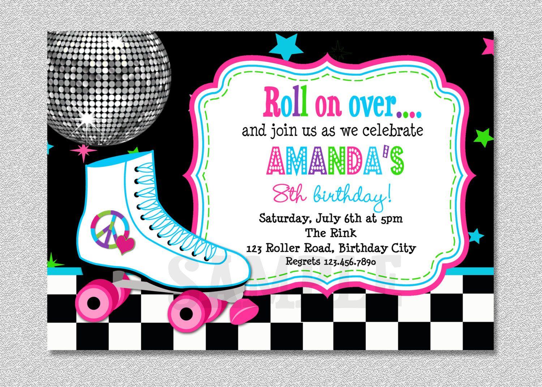 Download Free Template Free Printable Roller Skating Birthday