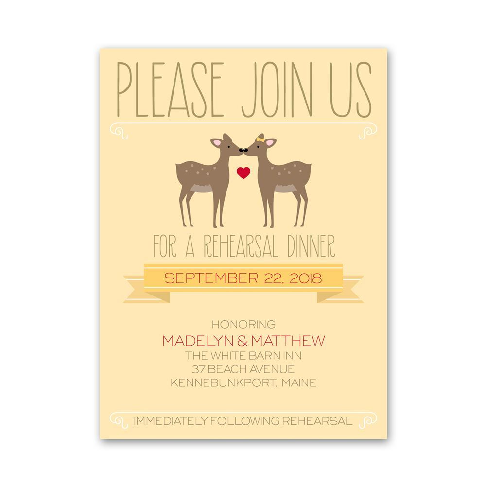 Dear To Me Petite Rehearsal Dinner Invitation