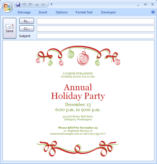 Printabl Perfect Christmas Party E Invitations Template