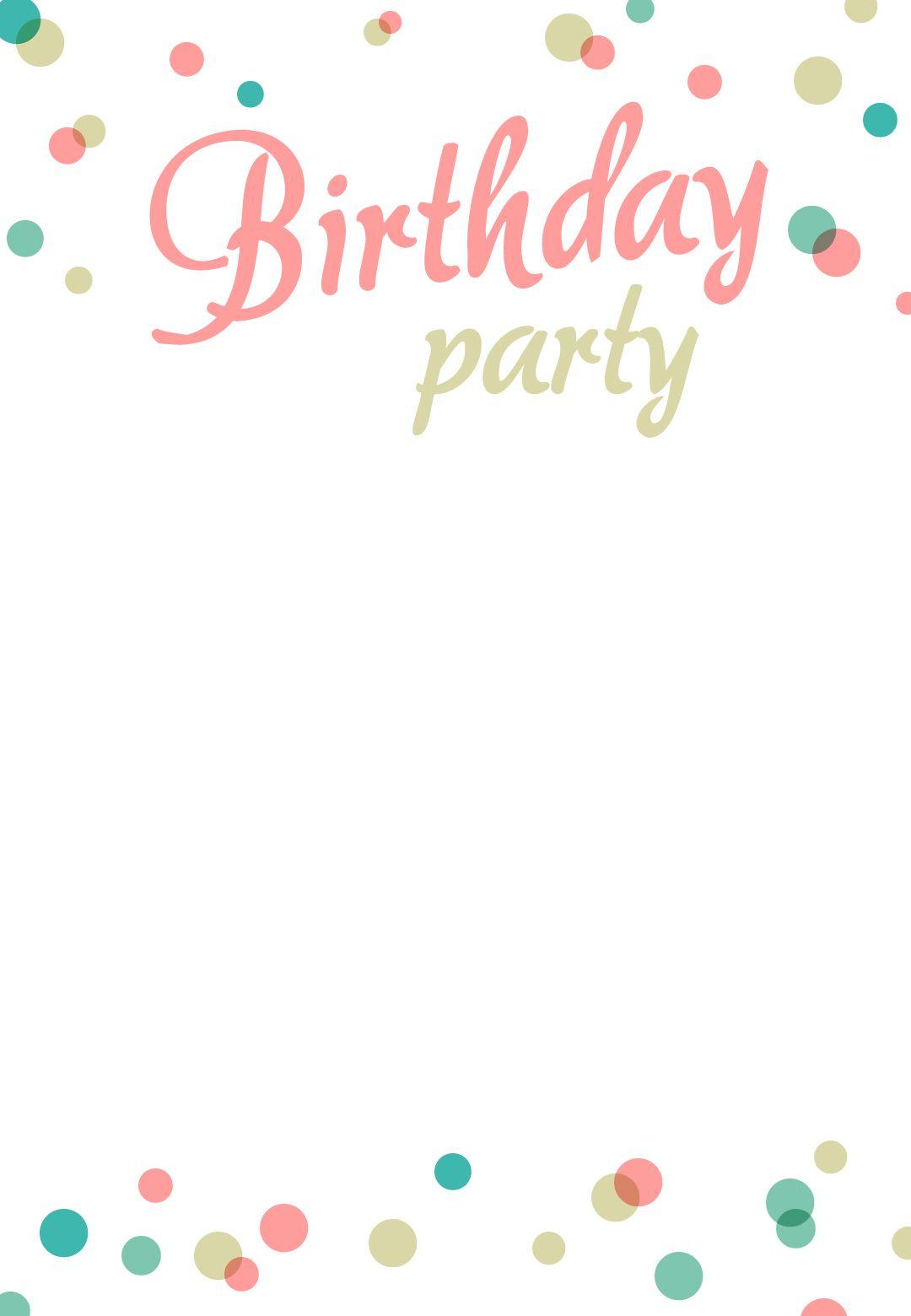 Birthday Invitation For Free