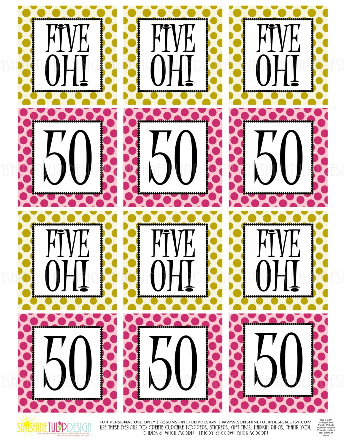 Free 50th Birthday Printables – Happy Holidays!