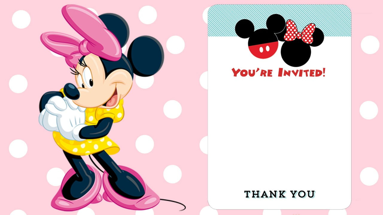 Free Printable Minnie Mouse Birthday Invitation
