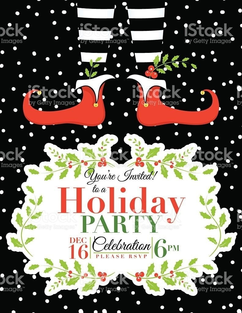 Free Holiday Party Invitation Templates Word Chamunesco Within
