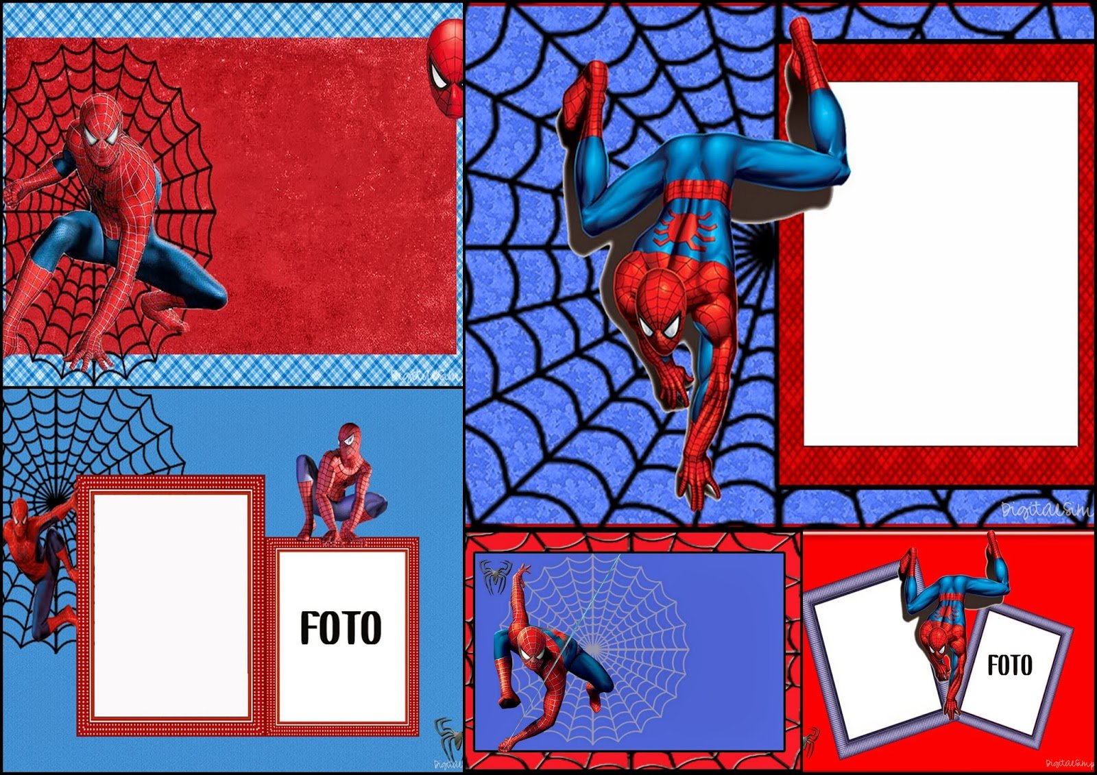 Spiderman  Free Printable Invitations, Cards Or Photo Frames