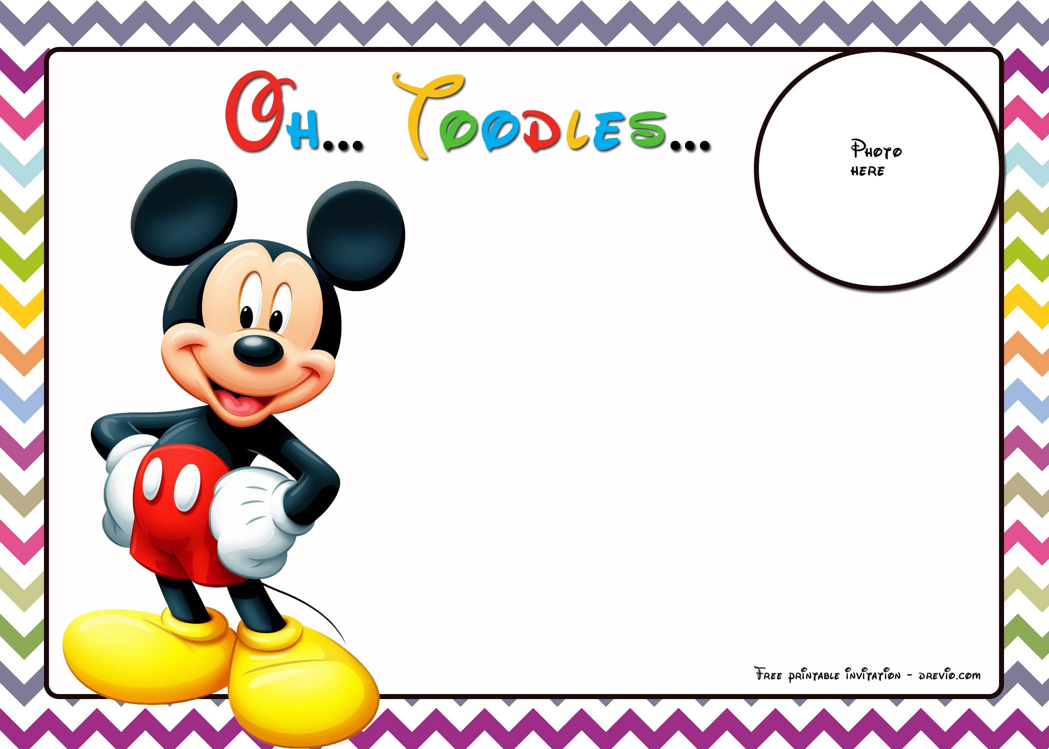 Free Mickey Mouse Invitations Personalized