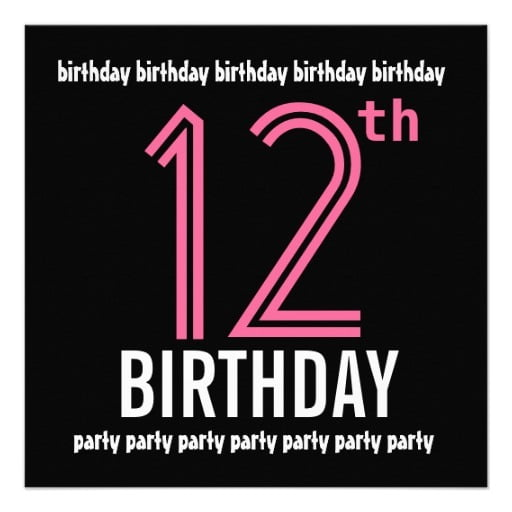 Luxury 12 Year Old Birthday Invitations That's Free Printables