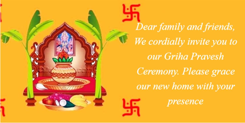Griha Pravesh Invitation] Indian House Warming Ceremony Invitation