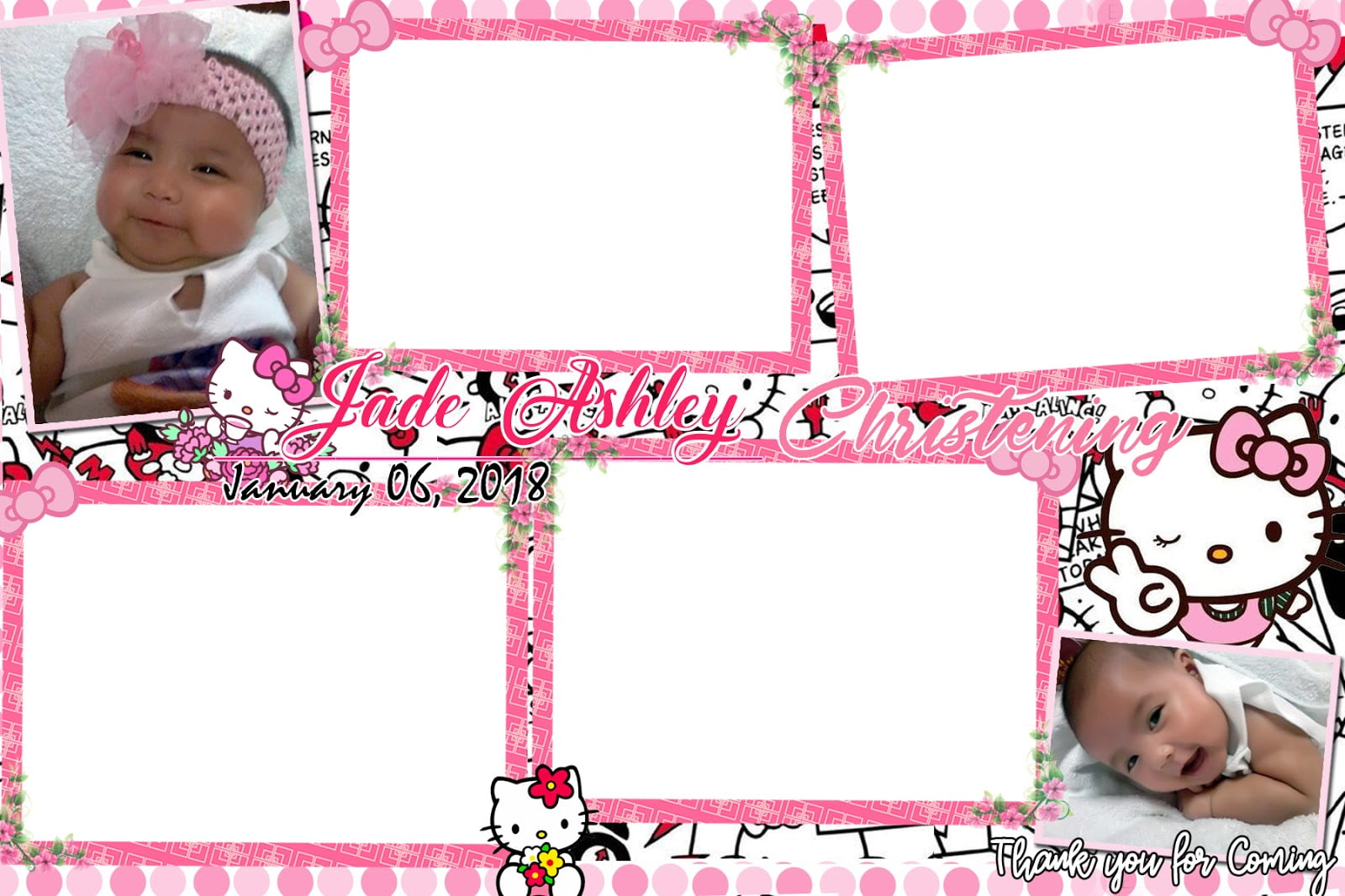 Hello Kitty Photo Booth Template For Christening