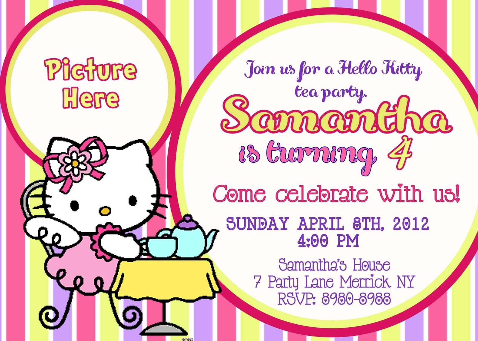 Hello Kitty Birthday Invitations Printable
