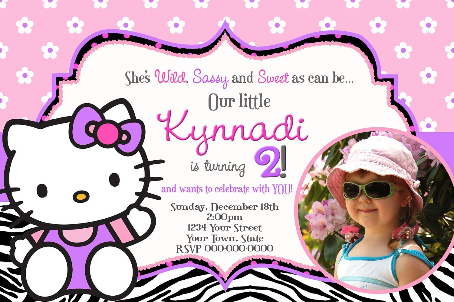 Invitation Card Hello Kitty