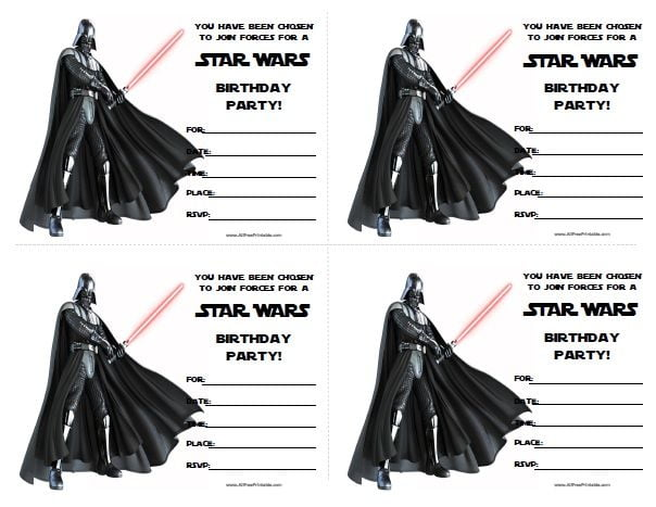 Star Wars Party I Simple Free Star Wars Party Invitations