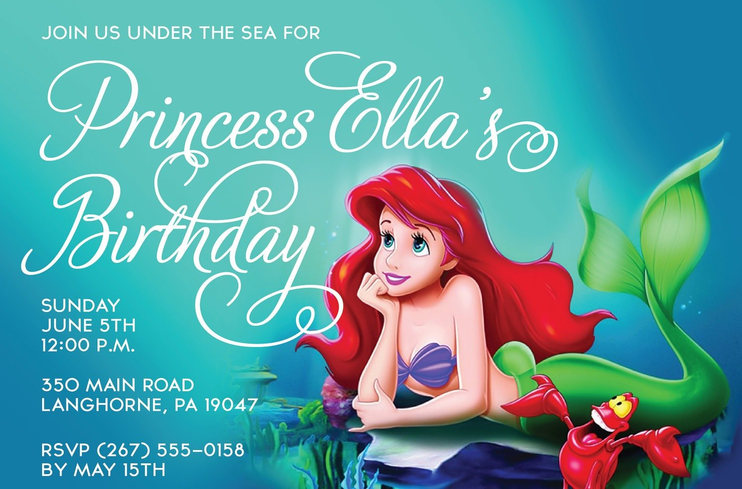 Little Mermaid Birthday Party For Best Little Mermaid Party