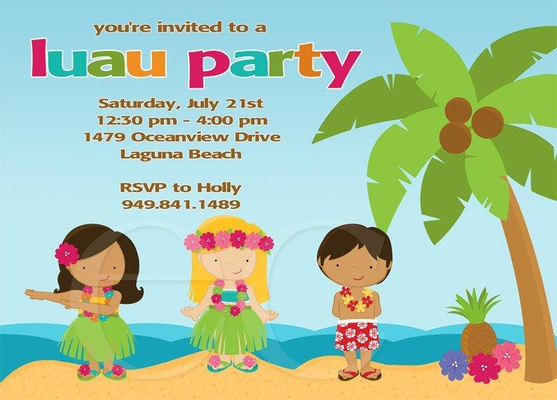 Luau Birthday Party Invitations Luau Birthday Party Invitations As