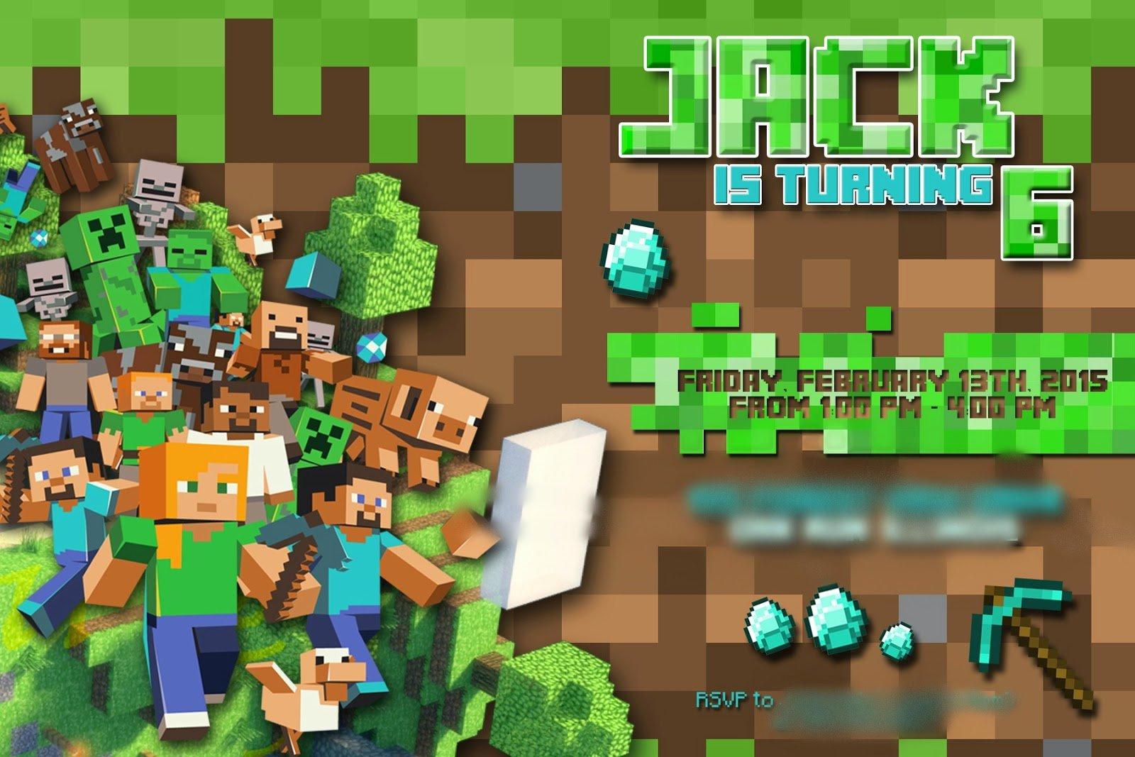 Minecraft Invite Template