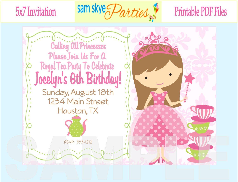 New Free Printable Kids Birthday Party Invitations Templates 62
