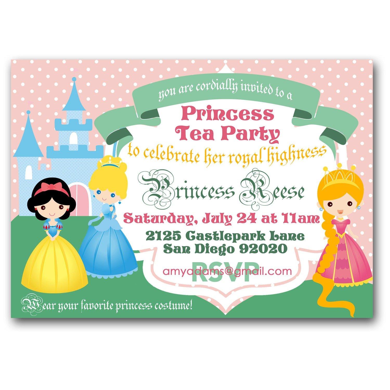 Princess Tea Party Invitation Ro Amazing Invite A Princess To Your