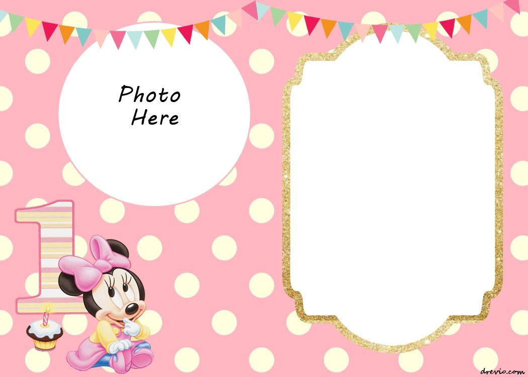 Printable Minnie Mouse Invitations Awesome Blank Invitation