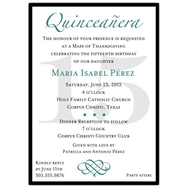 Quinceanera Invitation Template And The Invitations Of The Party