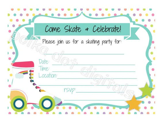 Roller Skating Invitation Th Ideal Free Printable Roller Skating