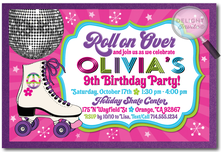 Skating Invitations Birthday Fresh Skating Birthday Invitations