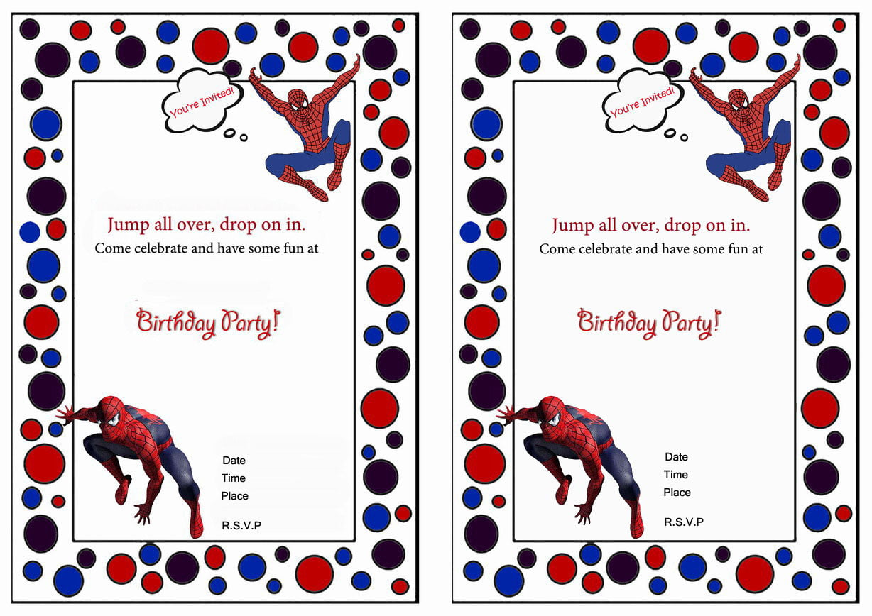 Spiderman Birthday Invitations – Birthday Printable